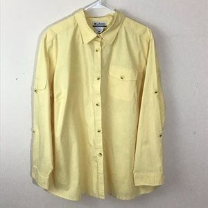 Columbia yellow long sleeve shirt 3x